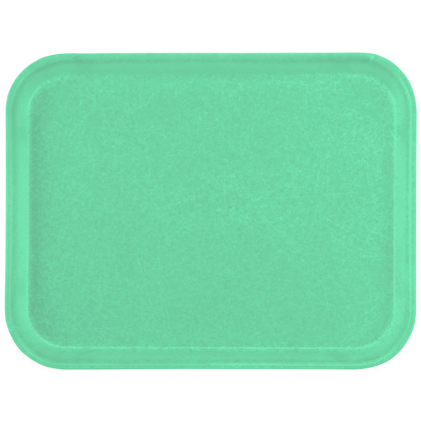 "Carlisle 1612FG007 Customizable 12"" x 16"" Glasteel Tropical Green Fiberglass Tray - 12/Case"