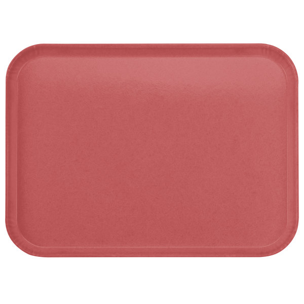 "Carlisle 2216FGQ069 Customizable 16"" x 22"" Glasteel Raspberry Fiberglass Tray - 6/Case"