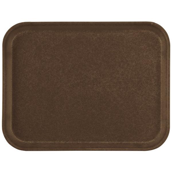 "Carlisle 1612FG127 Customizable 12"" x 16"" Glasteel Chocolate Fiberglass Tray - 12/Case"