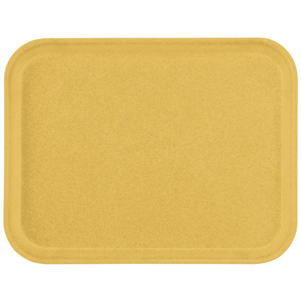 "Carlisle 1612FG023 Customizable 12"" x 16"" Glasteel Gold Fiberglass Tray - 12/Case"