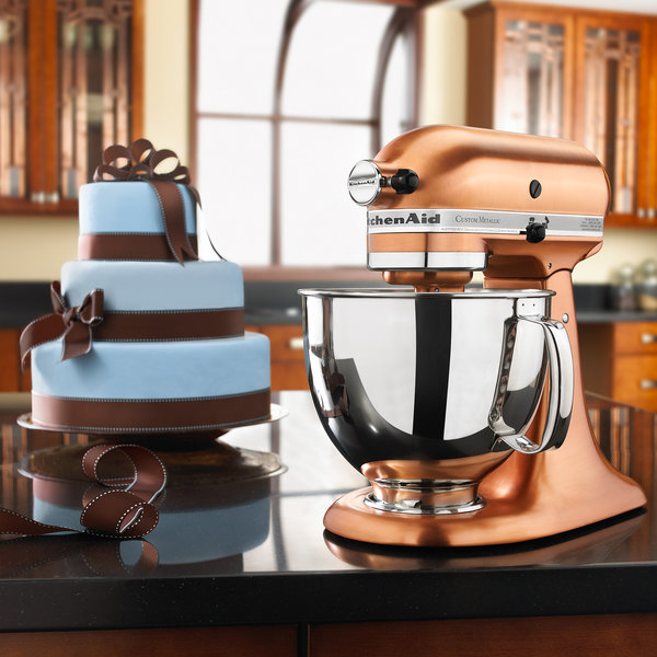 Kitchenaid ksm152pscp satin copper custom metallic series Copper countertops cost