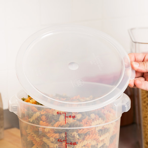 Cambro RFSC6PP190 Translucent Lid for Cambro Translucent 6 and 8 Qt. Round Containers