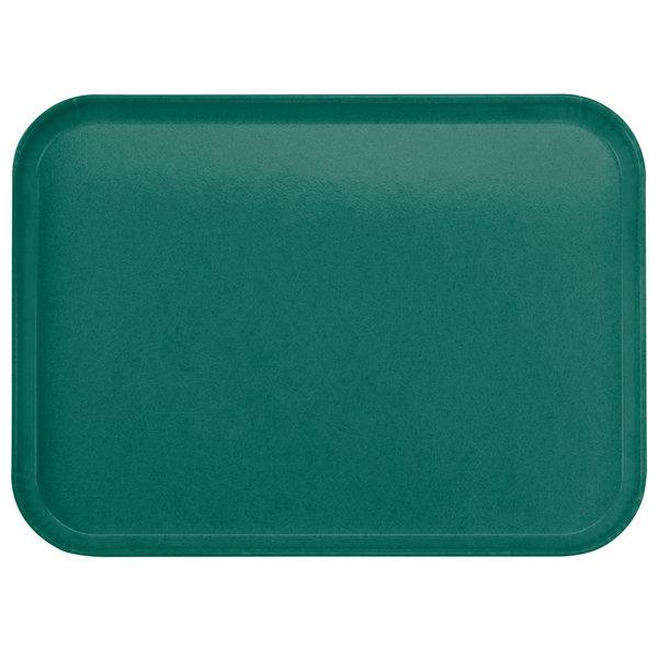 "Carlisle 2216FGQ010 Customizable 16"" x 22"" Glasteel Forest Green Fiberglass Tray - 6/Case"