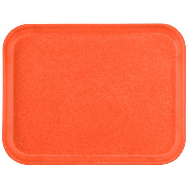 "Carlisle 1612FG018 Customizable 12"" x 16"" Glasteel Orange Fiberglass Tray - 12/Case"