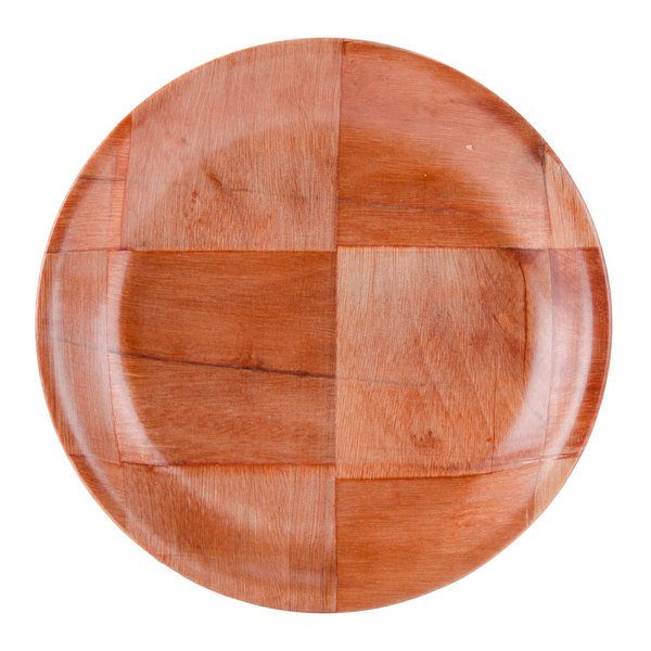 """6"""" Woven Wood Plate - 12/Pack"""