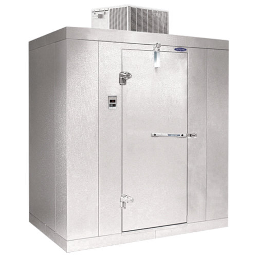 """Lft. Hinged Door Nor-Lake KLB812-C Kold Locker 8' x 12' x 6' 7"""" Indoor Walk-In Cooler"""
