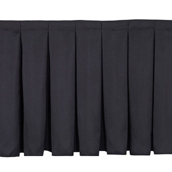"National Public Seating SB24-36 Black Box Stage Skirt for 24"" Stage - 36"" Long Main Image 1"
