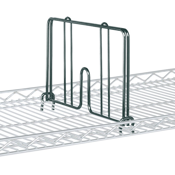 """Metro HD18-DSG Smoked Glass Drop Mat Snap-On Divider - 18"""" Wide"""