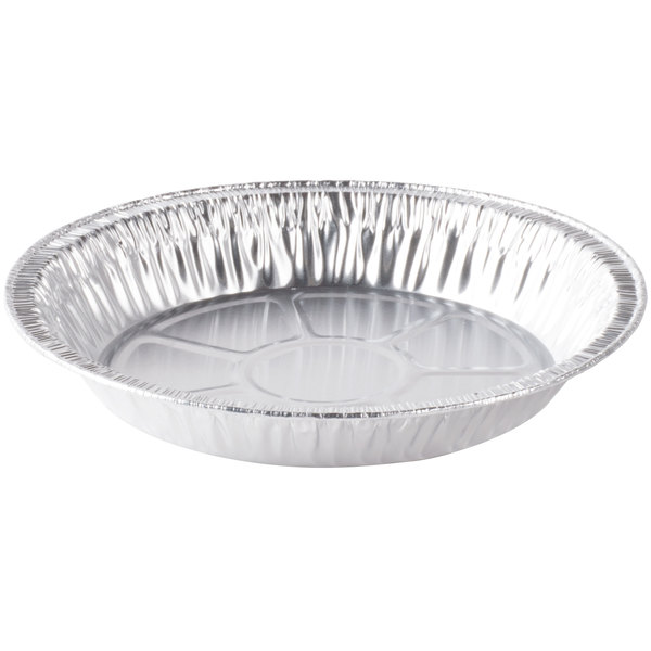 D&W Fine Pack D79 9 inch Foil Pie Pan 1 1/16 inch Deep  - 500/Case