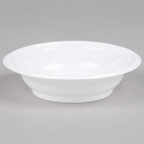 Dart 4BWWF 4 oz. White High Impact Plastic Bowl - 125/Pack