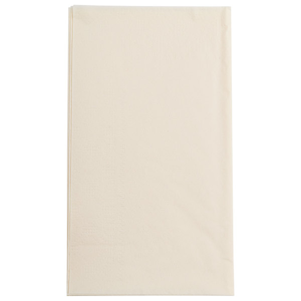 Ecru / Ivory Paper Dinner Napkins, 2-Ply, 15 inch x 17 inch - Hoffmaster 180517 - 1000/Case