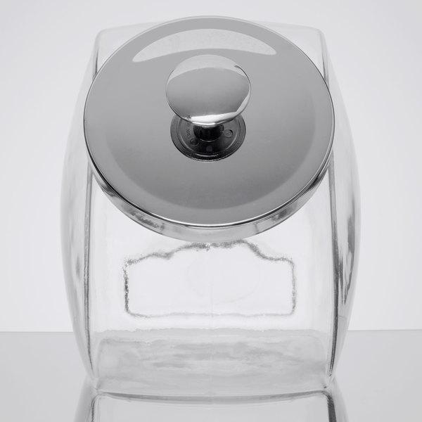 Anchor Hocking Glass Sweet Jar Cookie Jar with Chrome Lid Shop Display Jars