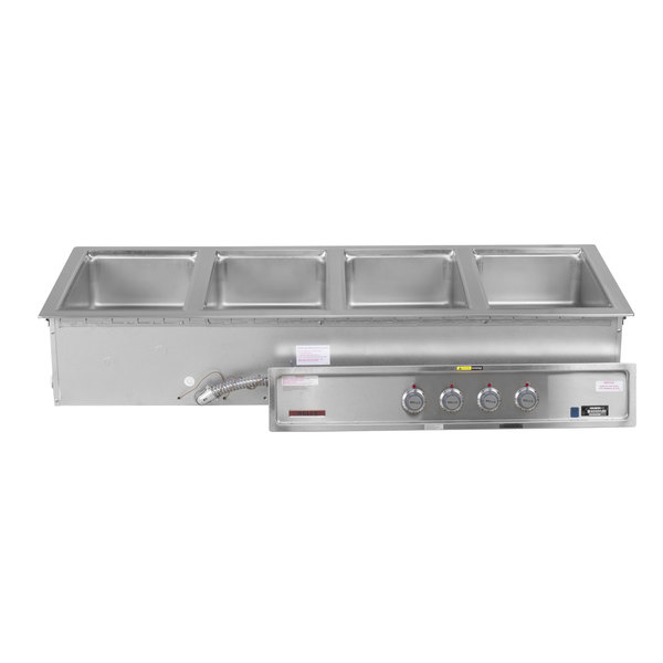 Wells 5P-MOD400TDM 4 Pan Drop-In Hot Food Well with Drain Manifolds - Thermostatic Control Main Image 1