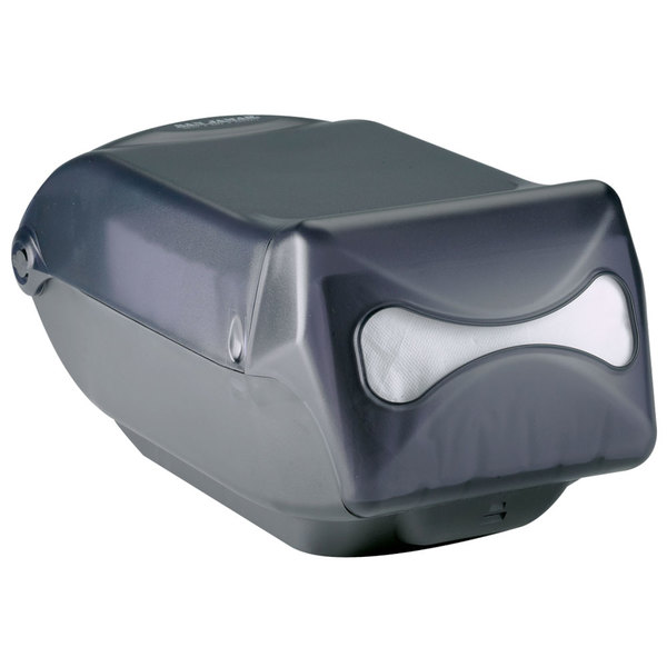 San Jamar H5003TBK Interfold Venue Countertop Napkin Dispenser - Black Pearl