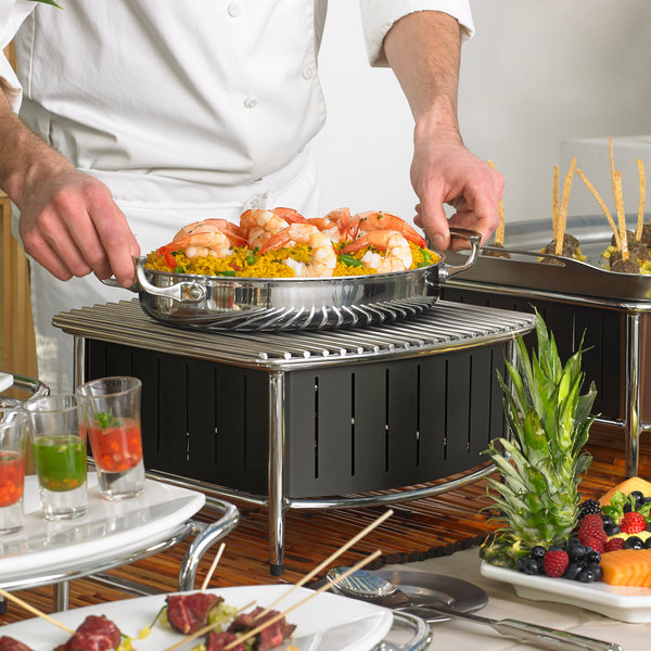 Vollrath 4667475 Black Small Buffet Station with Wire Grill Main Image 3