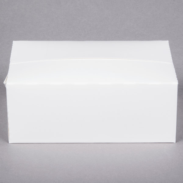 7 inch x 4 1/2 inch x 2 3/4 inch White Take Out Lunch / Snack / Chicken Box - 500/Case