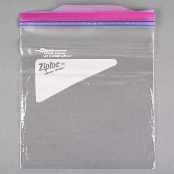 Ziploc® 682256 7 inch x 7 7/16 inch 1 Qt. Storage Bags with Double Zipper and Write-On Label  - 500/Case