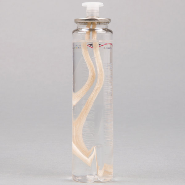 "Sterno 30114 Soft Light 29 Hour ""Smokeless"" Clear Liquid Candle Fuel Cartridge - 36/Case Main Image 1"