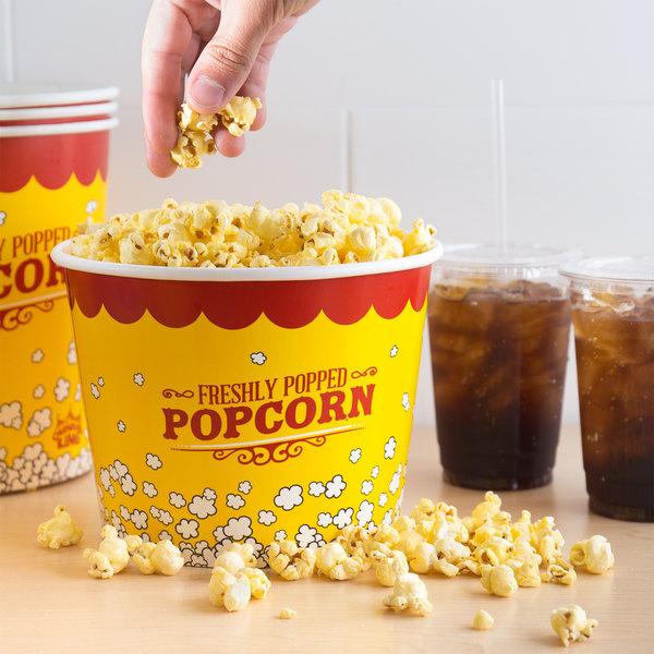 Carnival King 85 oz. Popcorn Bucket - 25/Pack