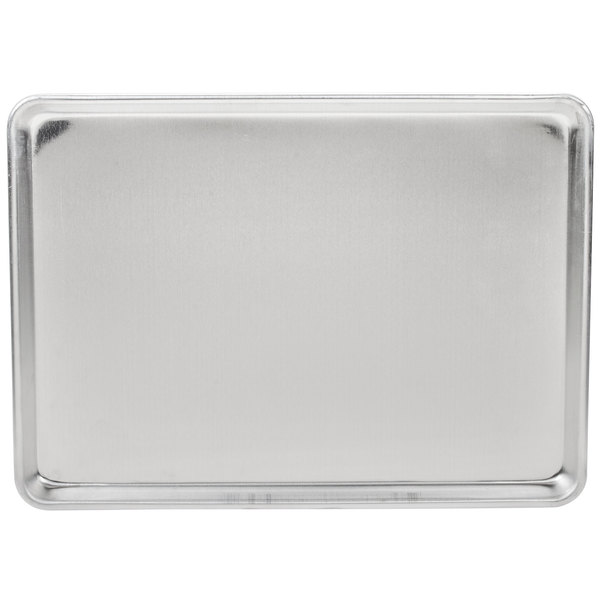 Advance Tabco 18-8A-13 Half Size 18 Gauge Aluminum Sheet Pan - Wire in Rim, 18 inch x 13 inch