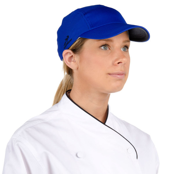 Headsweats Royal Blue Customizable 5-Panel Chef Cap with Eventure Fabric and Terry Sweatband Main Image 1