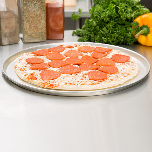 """American Metalcraft T2013 13"""" Tin-Plated Steel Pizza Pan"""