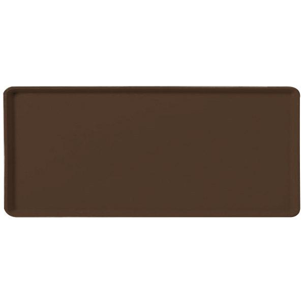 "Carlisle 1219LFG127 Customizable 12"" x 19"" Glasteel Chocolate Dietary Fiberglass Tray - 12/Case"