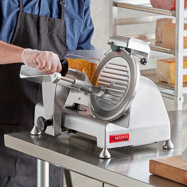 "Avantco SL309 9"" Manual Gravity Feed Meat Slicer - 1/4 hp Main Image 4"