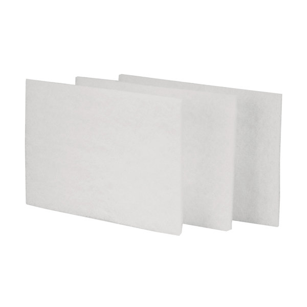 "Scrubble by ACS 98-604TSH 9"" x 6"" Light-Duty White Scouring Pads - 10/Pack"