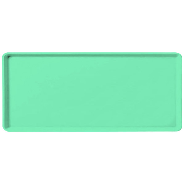 "Carlisle 1219LFG007 Customizable 12"" x 19"" Glasteel Tropical Green Dietary Fiberglass Tray - 12/Case"