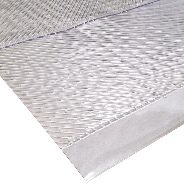 "Cactus Mat 3545R-4 Gripper 4' Wide Clear Vinyl Carpet Protection Runner Mat - 1/16"" Thick"