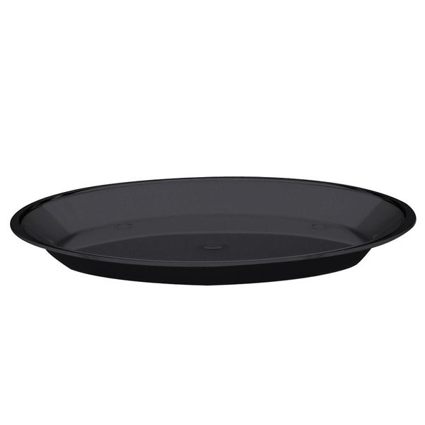 """Cal-Mil 315-10-13 Black Turn N Serve Shallow Tray for 10"""" Cal-Mil Sample Dome Covers"""