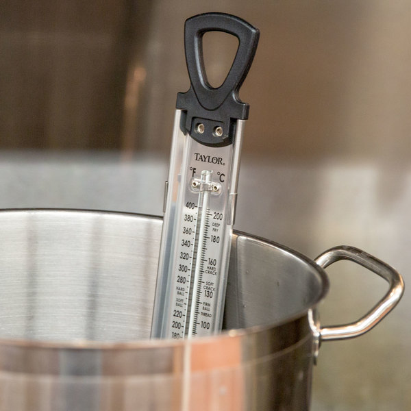 """Taylor 5983N 12"""" Classic Candy and Deep Fry Thermometer"""