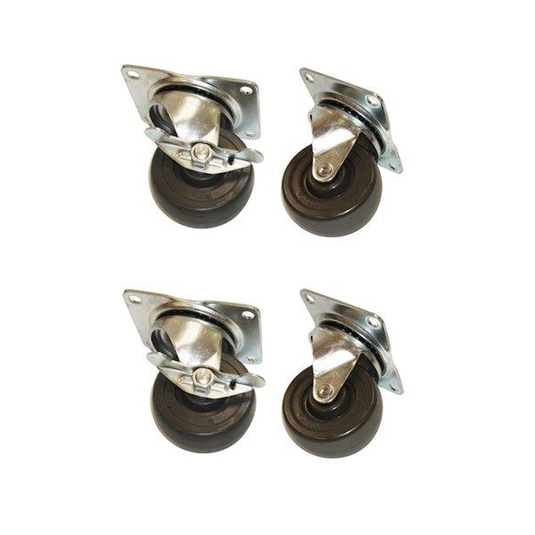 "True 879401 4"" Swivel Plate Casters - 4/Set Main Image 1"