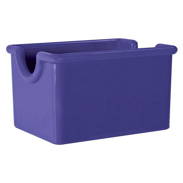 "GET SC-66-PB Mardi Gras 3 1/2"" x 2 1/2"" Peacock Blue SAN Plastic Sugar Caddy - 24/Case"