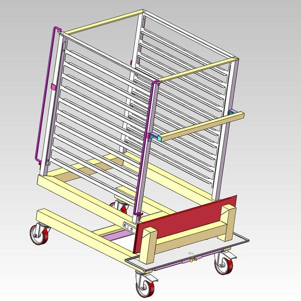 Alto-Shaam UN-27964 Roll-In Pan Cart Trolley for 10-20esG Models Main Image 1