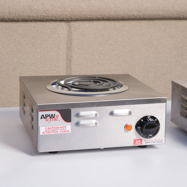 Lovely APW Wyott CP 1A Champion Single Open Burner Portable Electric Hot Plate    120V, 1250W