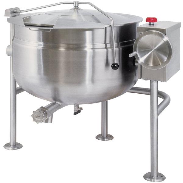 Cleveland KDL-80-TSH Short Series 80 Gallon Tilting Full Steam Jacketed Direct Steam Kettle Main Image 1