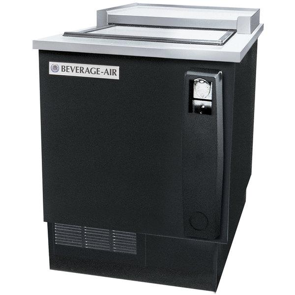 "Beverage-Air SF34-B 35"" Black Shallow Well Bottle Cooler"