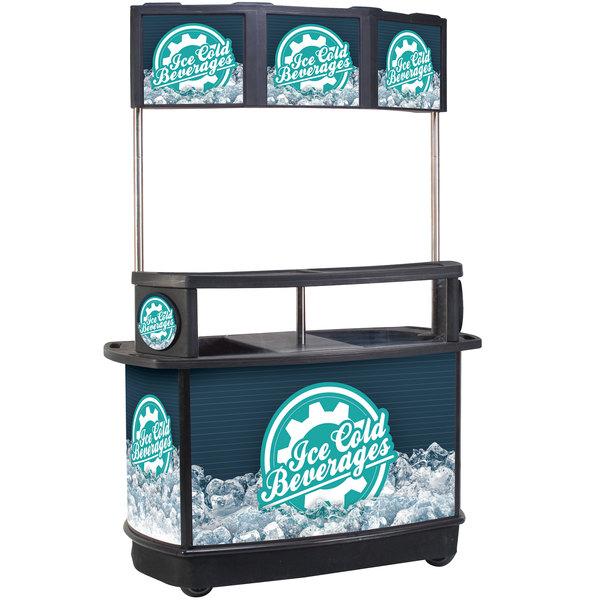 IRP 3650039 256 Qt. Illuminated Tri-Canopy Beverage Cart Main Image 1