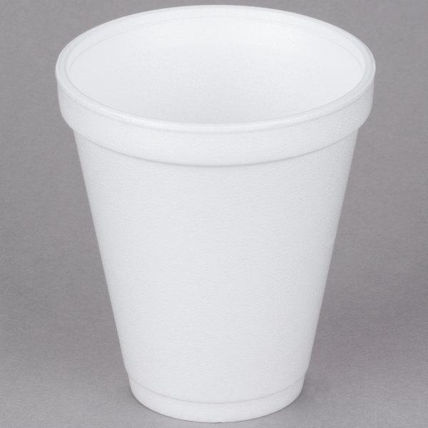 Dart 12j16 12 Oz Customizable White Squat Foam Cup 1000 Case