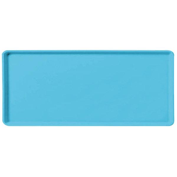 "Carlisle 1219LFG011 Customizable 12"" x 19"" Glasteel Turquoise Dietary Fiberglass Tray - 12/Case"