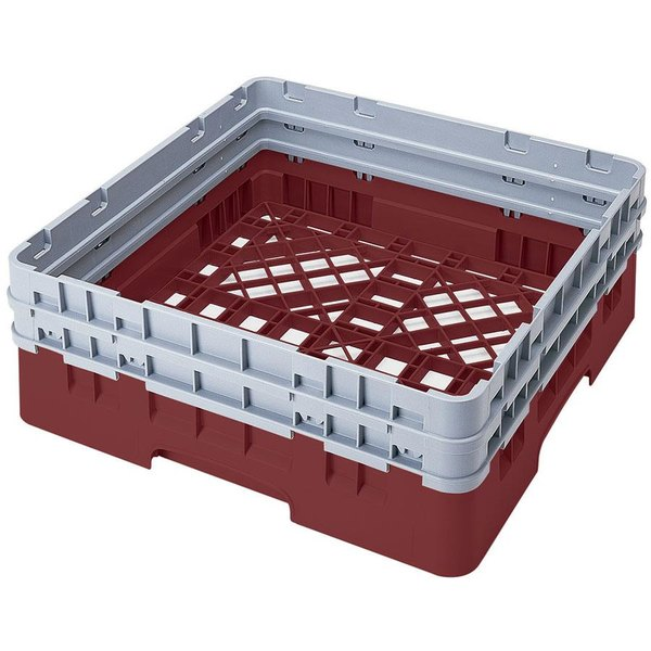 Cambro BR578416 Cranberry Camrack Full Size Open Base Rack with 2 Extenders Main Image 1