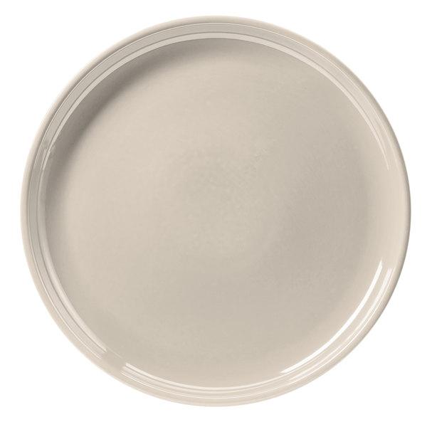 "Hall China 26130AWHA Ivory (American White) 13 1/4"" China Chop Plate - 6/Case"