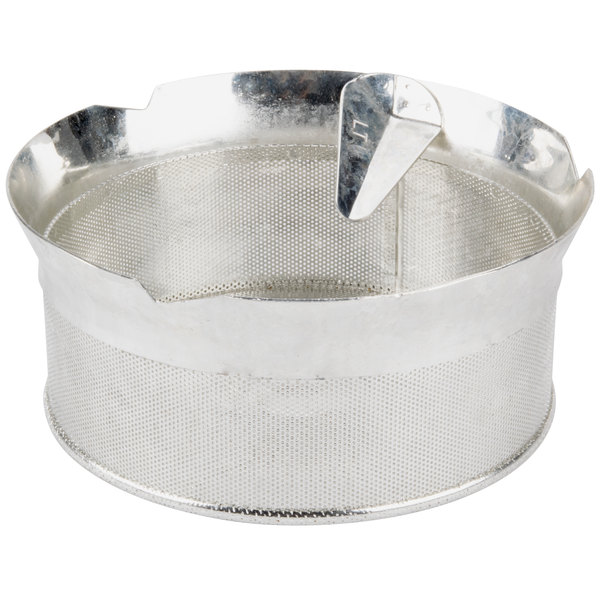 """Tellier P10010 1/32"""" Perforated Replacement Sieve for 15 Qt. Food Mill on Stand - Tinned Steel Main Image 1"""