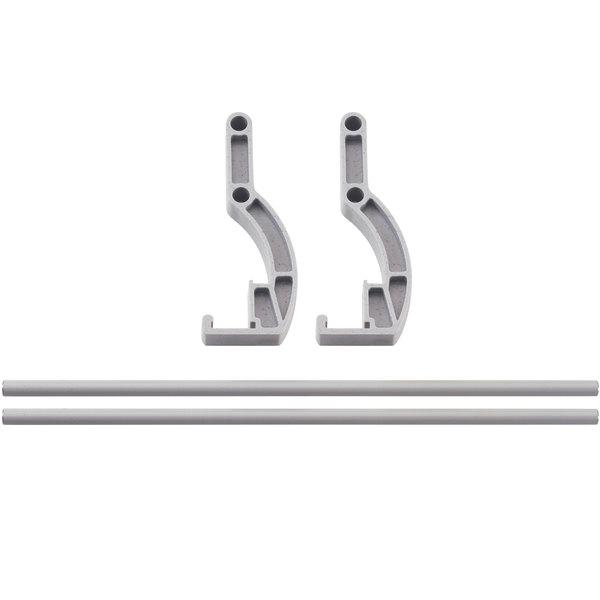 "Cambro CPR72S151 Double Level Shelf Rail for 72"" Long Cambro Camshelving® Premium Modular Shelving Units Main Image 1"