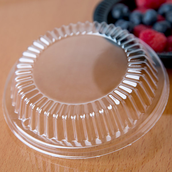 Dart CL5BW Clear Dome Lid for Plastic Bowls and Plates - 1000/Case Main Image 6