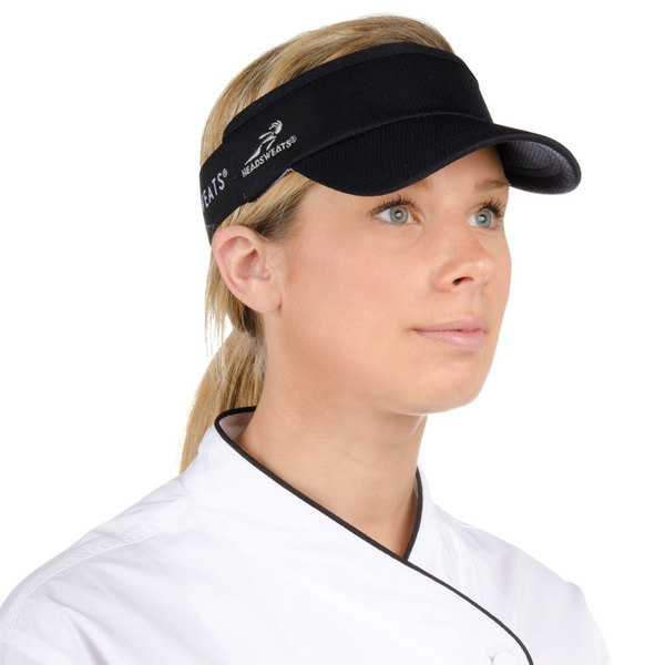 Black Headsweats CoolMax Chef Visor