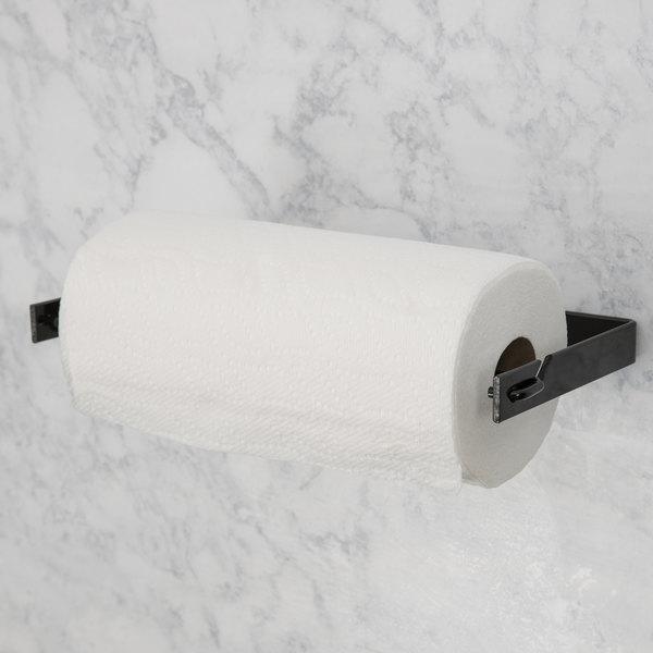 """Black Produce Bag Roll Holder/ Paper Towel Holder - 13 1/4"""" x 6 1/4"""""""