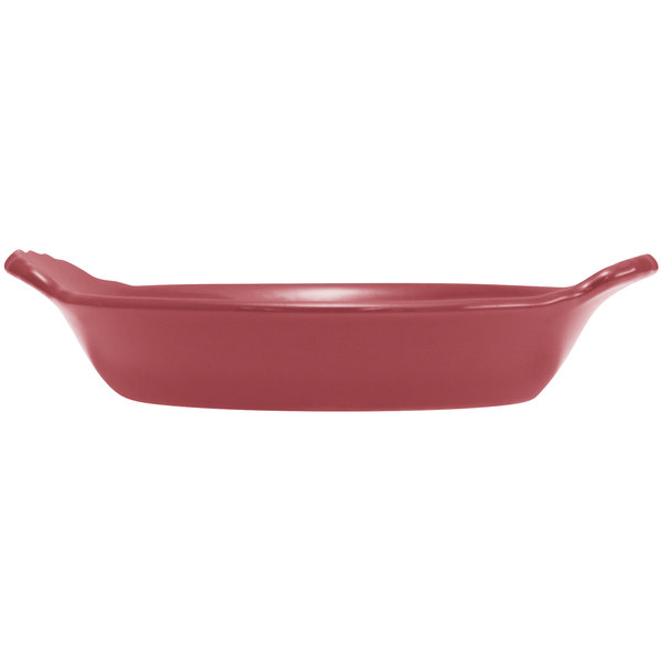 Hall China 30433326 Scarlet 8 oz. Colorations Round Au Gratin Baking Dish - 24/Case